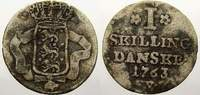 1 Skilling 1763  W Dänemark Frederik V., 1746-1766. Selten. Sehr schön+  5398 руб 75,00 EUR  +  720 руб shipping