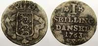 1 Skilling 1763  W Dänemark Frederik V., 1746-1766. Selten. Sehr schön+  75,00 EUR  + 5,00 EUR frais d'envoi