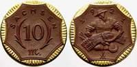 10 Mark 1921 Freistadt Sachsen Notmünzen aus Böttger-Steinzug Vorzüglic... 1439 руб 20,00 EUR  +  720 руб shipping