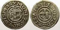 1/48 Taler 1667 Mecklenburg-Wismar, Stadt Karl XI. 1660-1697. Sehr schön  75,00 EUR  zzgl. 5,00 EUR Versand