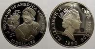 10 Dollars 1990 Cook-Inseln Elizabeth II. seit 1952. Polierte Platte  7,00 EUR  Excl. 5,00 EUR Verzending