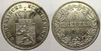6 Kreuzer 1865 Hessen-Darmstadt Ludwig III. 1848-1877. Sehr schön-vorzü... 15,00 EUR  zzgl. 5,00 EUR Versand