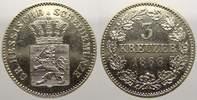 3 Kreuzer 1866 Hessen-Darmstadt Ludwig III. 1848-1877. Vorzüglich von P... 30,00 EUR  zzgl. 5,00 EUR Versand