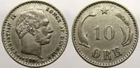 10 Öre 1 1904 Dänemark Christian IX. 1863-1906. Fast vorzüglich  37.28 US$ 35,00 EUR  +  10.65 US$ shipping