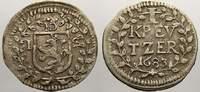 1 Kreuzer 1683  IS Hessen-Darmstadt Ernst Ludwig 1678-1739. Sehr schön+  50,00 EUR  zzgl. 5,00 EUR Versand