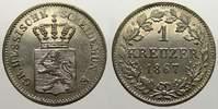 1 Kreuzer 1867 Hessen-Darmstadt Ludwig III. 1848-1877. Vorzüglich von P... 30,00 EUR  zzgl. 5,00 EUR Versand