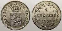 1 Kreuzer 1854 Hessen-Darmstadt Ludwig III. 1848-1877. Vorzüglich+  30,00 EUR  zzgl. 5,00 EUR Versand