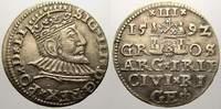 3 Gröscher 1 1592 Riga, Stadt Sigismund III. 1587-1632. Vorzüglich  95,00 EUR  zzgl. 5,00 EUR Versand