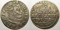 3 Gröscher 1 1589 Riga, Stadt Sigismund III. 1587-1632. Min. Schrötling... 150,00 EUR  zzgl. 5,00 EUR Versand