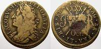 Half Crown (Bronze) 1689 Irland James II 1685-1691. Überdurchschnittlic... 175,00 EUR  +  5,00 EUR shipping
