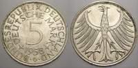 5 DM 1958  G Bundesrepublik Deutschland  Kl. Randfehler, vorzüglich+  47.77 US$ 45,00 EUR  +  10.62 US$ shipping