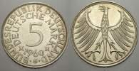 5 DM 1960  G Bundesrepublik Deutschland  Vorzüglich  26.54 US$ 25,00 EUR  +  10.62 US$ shipping