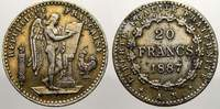 20 Francs 1887  AR Frankreich Dritte Republik 1870-1940. Vergoldungsres... 275,00 EUR kostenloser Versand