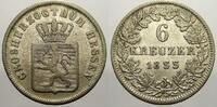 6 Kreuzer 1855 Hessen-Darmstadt Ludwig III. 1848-1877. Sehr schön  40,00 EUR  zzgl. 5,00 EUR Versand