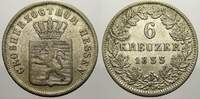 6 Kreuzer 1855 Hessen-Darmstadt Ludwig III. 1848-1877. Sehr schön  42.46 US$ 40,00 EUR  +  10.62 US$ shipping