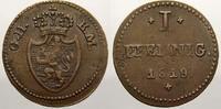 Cu 1 Pfennig 1819 Hessen-Darmstadt Ludwig I. 1806-1830. Kl. Schrötlings... 31.85 US$ 30,00 EUR  +  10.62 US$ shipping