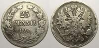 25 Penniä 1 1894  L Russland Zar Alexander III. 1881-1894. Sehr schön+  15,00 EUR  zzgl. 5,00 EUR Versand