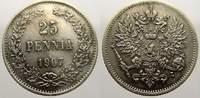 25 Penniä 1 1907  L Russland Zar Nikolaus II. 1894-1917. Winz.. Kratzer... 15,00 EUR  zzgl. 5,00 EUR Versand