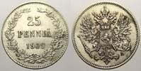 25 Penniä 1 1909  L Russland Zar Nikolaus II. 1894-1917. Vorzüglich  15,00 EUR  zzgl. 5,00 EUR Versand