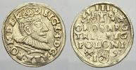 3 Gröscher 1 1591  IF Polen Sigismund III. 1587-1632. Selten. Fast vorz... 125,00 EUR  +  5,00 EUR shipping