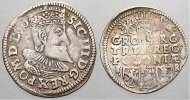 3 Gröscher. 2, 12 g. 1 1596  I Polen Sigismund III. 1587-1632. Selten. ... 125,00 EUR