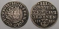 Dreigroschen 1538 Danzig, Stadt Sigismund I. 1506-1548. Kl. Doppelschla... 150,00 EUR  +  5,00 EUR shipping