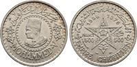 500 Francs AH1376-1956. Marokko Mohammed V., 1346-1375 H/1927-1955 Vorz... 35,00 EUR