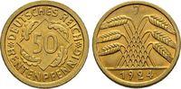 50 Rentenpfennig 1924 J. WEIMARER REPUBLIK  Vorzüglich/Stempelglanz  45,00 EUR