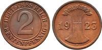 2 Rentenpfennig 1923 F. WEIMARER REPUBLIK  Fast Stempelglanz  45,00 EUR  +  6,00 EUR shipping