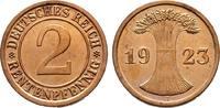 2 Rentenpfennig 1923 J. WEIMARER REPUBLIK    45,00 EUR  +  6,00 EUR shipping