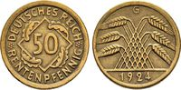 50 Rentenpfennig 1924 G. WEIMARER REPUBLIK  Sehr schön +  30,00 EUR