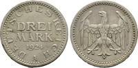 3 Mark 1924 A. WEIMARER REPUBLIK  Sehr schön  45,00 EUR