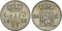 25 Cents 1825, Utrecht. Niederlande Wilhelm I. von Nassau-Dietz, 1815-1... 50,00 EUR