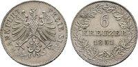 6 Kreuzer 1851. Hessen  Vorzüglich  45,00 EUR
