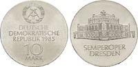 10 Mark 1985, Semperoper. DEUTSCHE DEMOKRATISCHE REPUBLIK  Stempelglanz  50,00 EUR