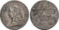 2 Mark 1668, Stockholm. Schweden Karl XI., 1660-1697, 1693 Herzog von P... 160,00 EUR  +  6,00 EUR shipping