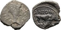 Quinar 43/42 v. Chr., Lyon. Imperatorische Prägungen M. Antonius Sehr s... 80,00 EUR  zzgl. 4,50 EUR Versand