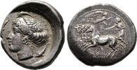 Tetradrachme 425/413 v. Chr., unsignie Siz...