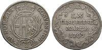 1/6 Konventionstaler (20 Kreuzer) 1763,  Heinrich VIII. von Bibra, 1759... 125,00 EUR  zzgl. 4,50 EUR Versand