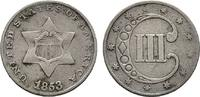 3 Cents 1853. USA    60,00 EUR  +  6,00 EUR shipping