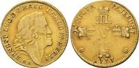 1/2 Karolin (5 Gulden) 1733 GK,  Ernst Ludwig, 1678-1739   1500,00 EUR kostenloser Versand