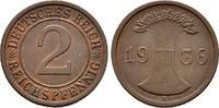 2 Pfennig 1936 E. WEIMARER REPUBLIK  Vorzüglich +  55,00 EUR  +  6,00 EUR shipping