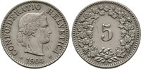5 Rappen 1904 B, Schweiz  Sehr schön/Vorzüglich  60,00 EUR  +  6,00 EUR shipping
