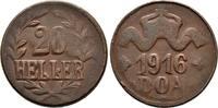 20 Cu-Heller 1916. DEUTSCH-OSTAFRIKA  Sehr schön  100,00 EUR  zzgl. 4,50 EUR Versand