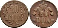 20 Cu-Heller 1916. DEUTSCH-OSTAFRIKA  Sehr schön  40,00 EUR  zzgl. 4,50 EUR Versand