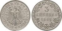 3 Kreuzer 1866. Diverse  Stempelglanz  60,00 EUR  +  6,00 EUR shipping