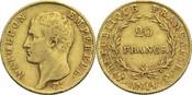 20 Francs AN 14 Q Frankreich Napoleon I. 1804-1814, 1815 ss