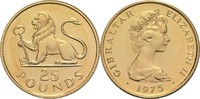 25 Pfund 1975 Gibraltar Elisabeth II. St  310,00 EUR  zzgl. 6,90 EUR Versand