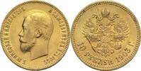 10 Rubel 1903 Russland Nikolaus II. ss-vz  485,00 EUR  zzgl. 6,90 EUR Versand