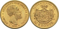 10 Kronen 1895 Schweden Oscar II. ss+  220,00 EUR  +  14,90 EUR shipping